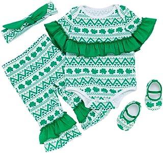 ABOOFAN 1 Juego St. Ropa de Bebe del Dia de Patricks Kit St. Patricks Day Ropa Pantalones Set St. Conjunto de Zapatos de D...