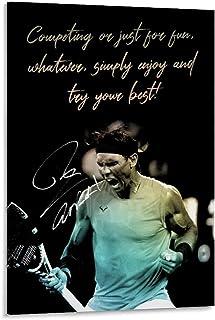 ASFASF Poster décoratif sur toile représentant un joueur de tennis Rafael Nadal Rafa 60 x 90 cm