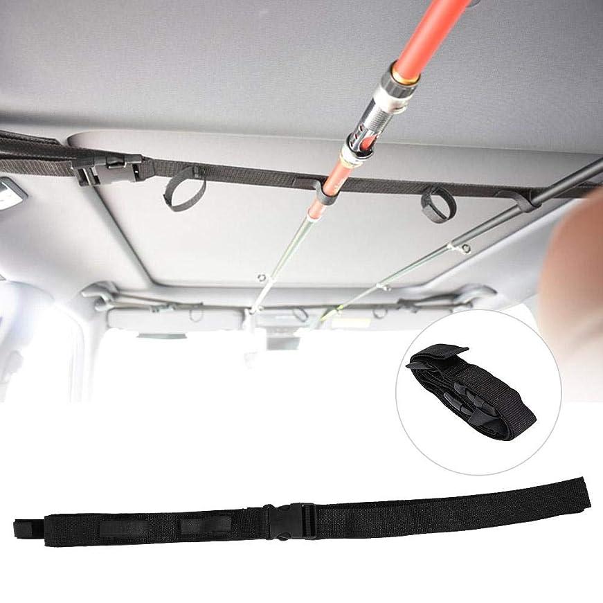 理容師共役を除く車載 ロッドホルダー ロッドキャリー 5本収納可能 高強度ナイロン素材 収納簡単 シンプル ブラック