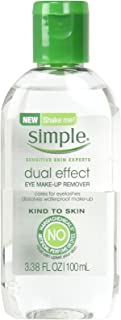 Simple Kind To Skin Eye Makeup Remover, Dual Effect, 3.38 Ounce