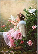 5D Diamond Painting by Number Kits,DIY Full Drill Little Girl Crystal Rhinestone Diamond Embroidery Paintings Cross-Stitch...