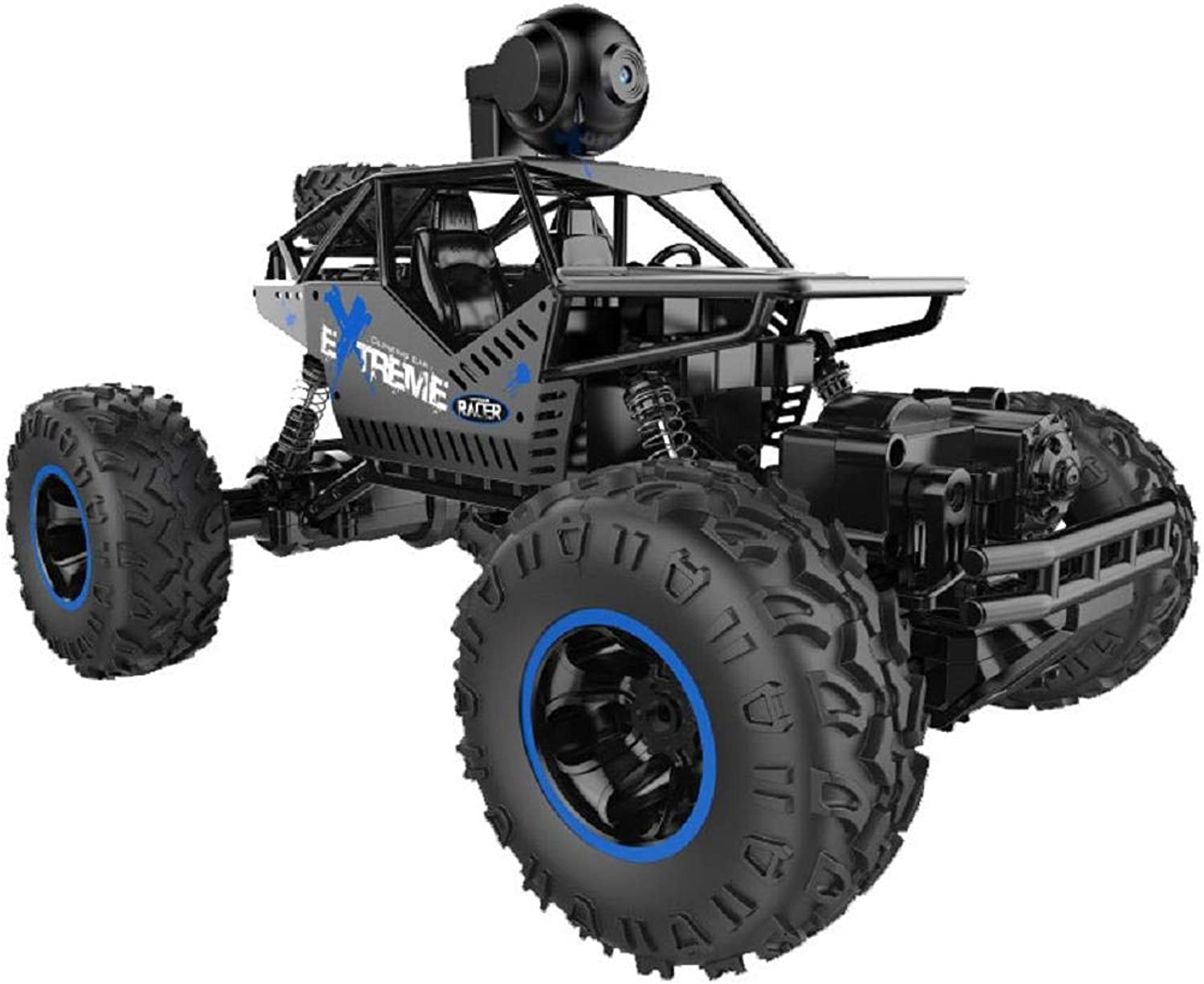 Cinhent 1 16 FourWheel Drive Alloy CrossCountry Climbing Car 90 Degree Mobile Camera Remote Control Car Toy Gift for Kids