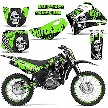 Wholesale Decals MX Dirt Bike Graphics kit Sticker Decal Compatible with Yamaha YZ85 2002-2014 Reaper V2 Yellow