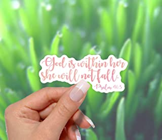 God Is Within Her Sticker - for Laptops, Water Bottles and Cell Phones