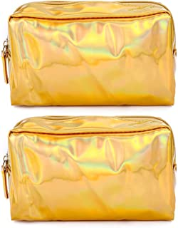 COAFIT 2PCS Makeup Bag Portable Square Multipurpose Toiletry Bag Clutch Wallet