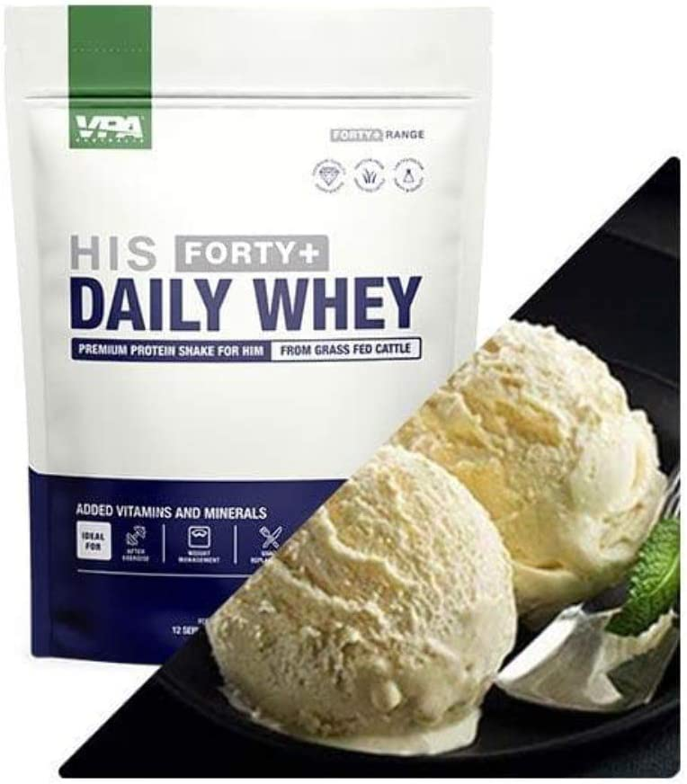 VPA Forty+ Popular brand in the world His Limited time trial price Vanilla Daily Whey
