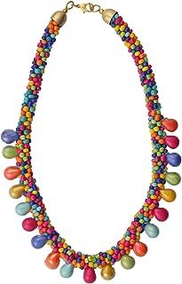 Multicolor Glass Women Necklace