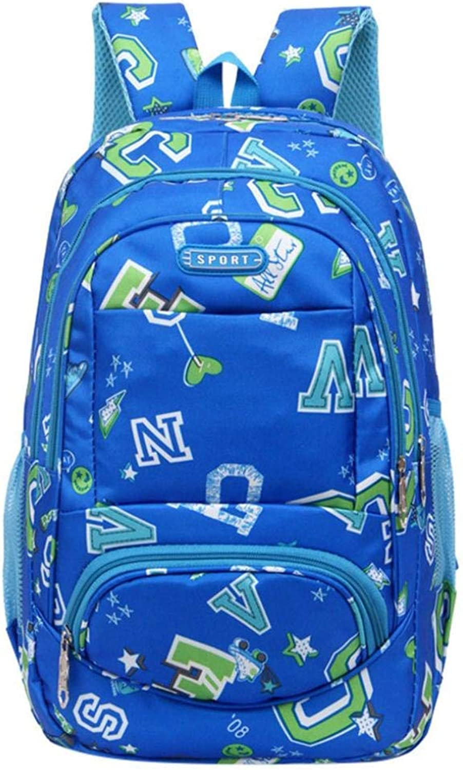 School Backpack Backpack for Teens Letter Print Comfy Burden Reduction School Bag Double Shoulder Bag (color   blueee)