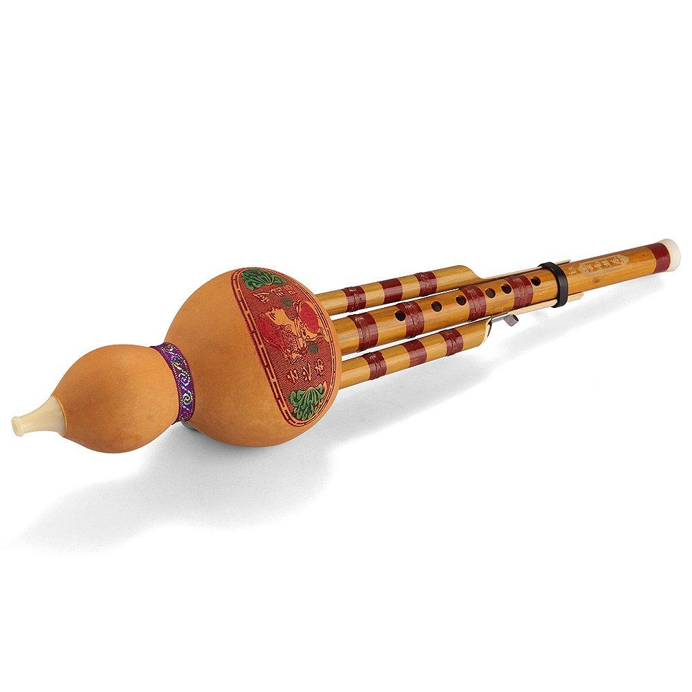 Flauta de Hulusi Instrumento Viento Étnico China Bb con Caja ...