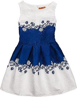 68dbd3c27 Showu Vestido Vintage Estampado de Niñas Años para Fiesta Cóctel Vestido  Algodón de Verano sin Mangas