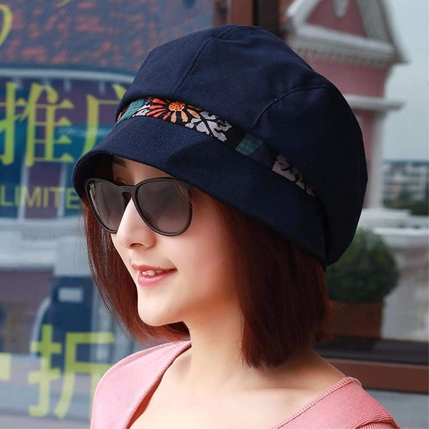 Chuiqingnet The Feeling of spring and summer new national wind cap video thin candy name Yuan basin cap fisherman hat Fashion Cap mother cap Hats (color   The bluee, Size   M)