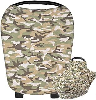 HONEY$HOMEY Camouflage Baby Car Seat Canopy, Maternity Breastfeeding Nursing Cover Scarf, High Chair Stroller Head Cover