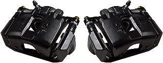 CCK11872 [2] FRONT Performance Grade Black Powder Coated Semi-Loaded Caliper Assembly Pair