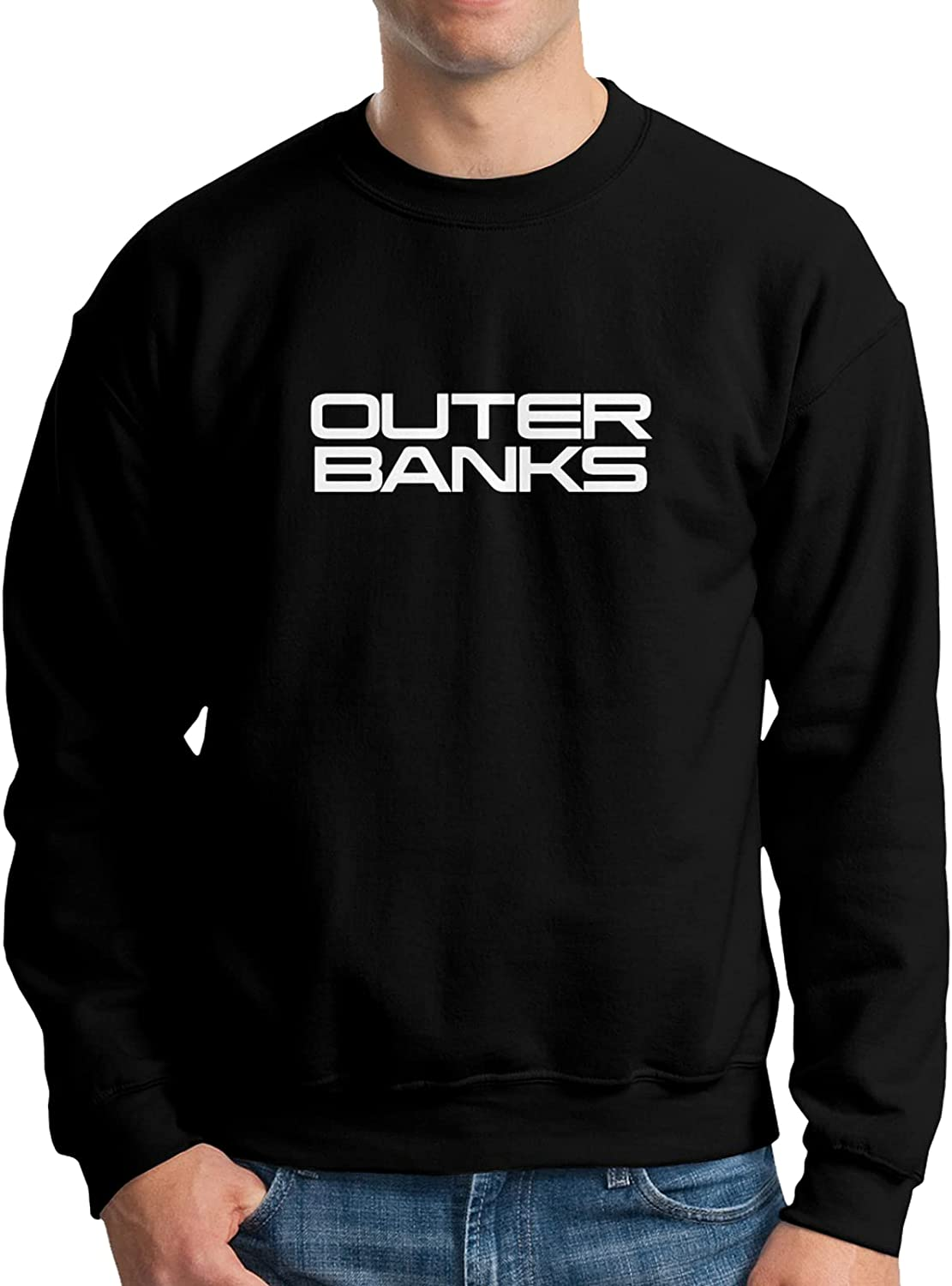 Outer Banks Mens Athletic Sweatshirt Easy-to-use Sleeve Crew T-Shirt Ne Long Fort Worth Mall
