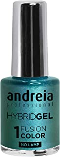Esmalte de uñas de gel profesional Andreia Hybrid – 2 pasos y no requiere lámpara de larga duración y fácil de quitar – Co...