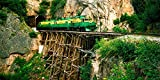 The Poster Corp Panoramic Images – Train on a Bridge