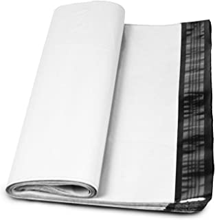 """100 Count #7 19 x 24 Inch Oknuu Packaging Supplies White Poly Mailers Self-Sealing Shipping Envelopes Plastic Mailing Bags 2.5 Mil Thickness 19""""x24"""" PM19X24 (100 Pack)"""
