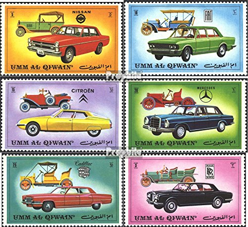 Prophila Collection UMM al Qaiwain 637A-642A (Completa Edizione) 1972 Automobile (Francobolli per i Collezionisti) Traffico Stradale