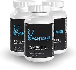Vantage Forskolin - Best Natural Weight Loss Dietary Supplement, Metabolism Booster, Pure Coleus Forskohlii Extract Diet Pills, Belly Buster, Fat Burner, Appetite Suppressant Carb Blocker, 30 Caps