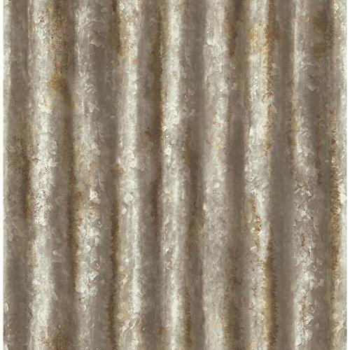 A-Street Prints 2701-22334 Rust Corrugated Metal Wallpaper