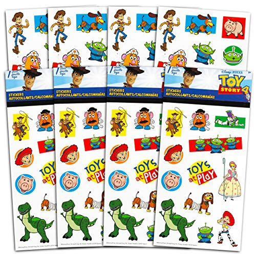 Disney Pixar Toy Story Stickers Party Favors Set ~ Bundle Includes Over 100 Toy Story Stickers Featuring Buzz, Woody, Rex, Mr. Potato Head, and More (Toy Story Party Supplies)