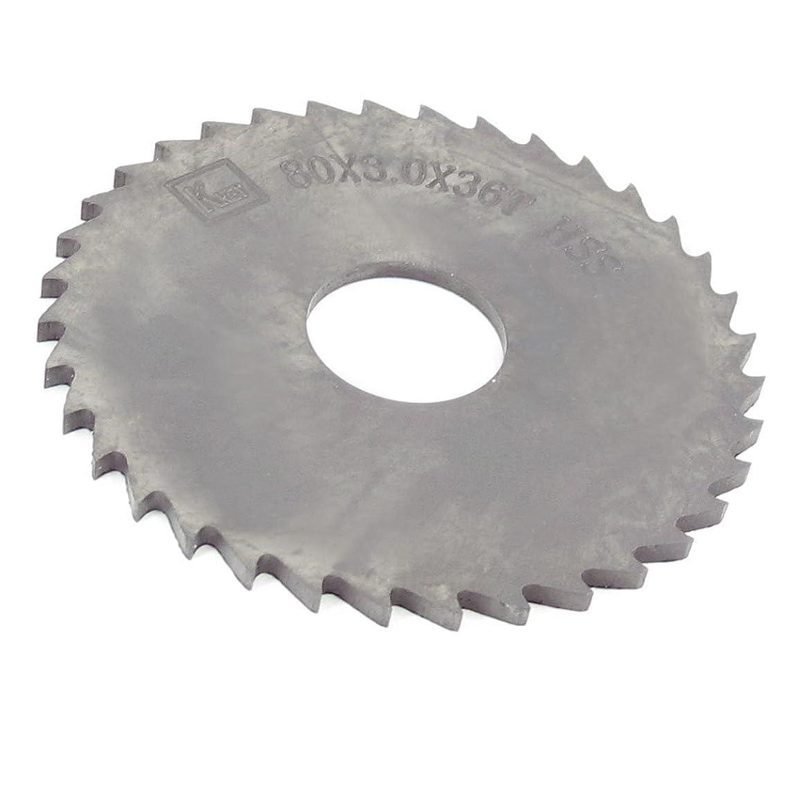 uxcell スリッティングソー 切削工具 ペグ歯 36歯 厚さ3mm 外径80mm 穴径22mm 1個入り