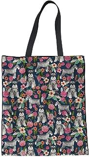 SANNOVO Women Linen Tote Bag Casual Shoudler Bag Fashion Shopping Bags