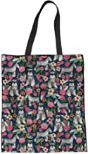 SANNOVO Women Linen Tote Bag Casual Shoudler Bag Fashion Shopping Bags