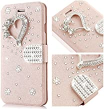 L-FADNUT Phone Case for iPhone 6s, Bling Jewellery Crystal Rhinestone Flip PU Leather Case,3D Love Magnetic Diamond Buckle with Stand Wallet Card Holder for iPhone 6/6s