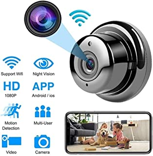Andoer Mini Camera Cordless WiFi Remote Mo-ni-tor Camera for Home Office Store Safety