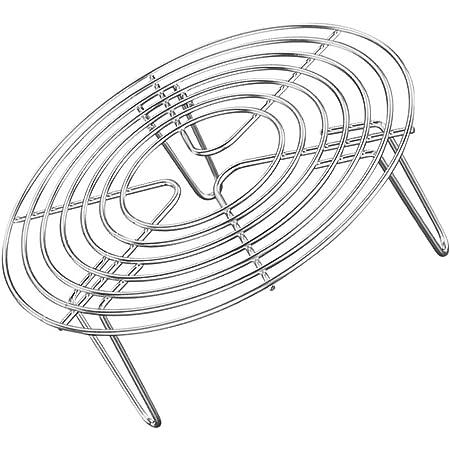 BESTONZON Supporto per pentole per cottura in acciaio inox cremagliera Supporto da cucina Strumenti di cottura barbecue