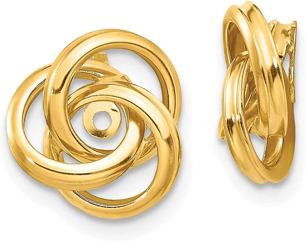 14k Yellow Gold Love Knot Earring Jackets