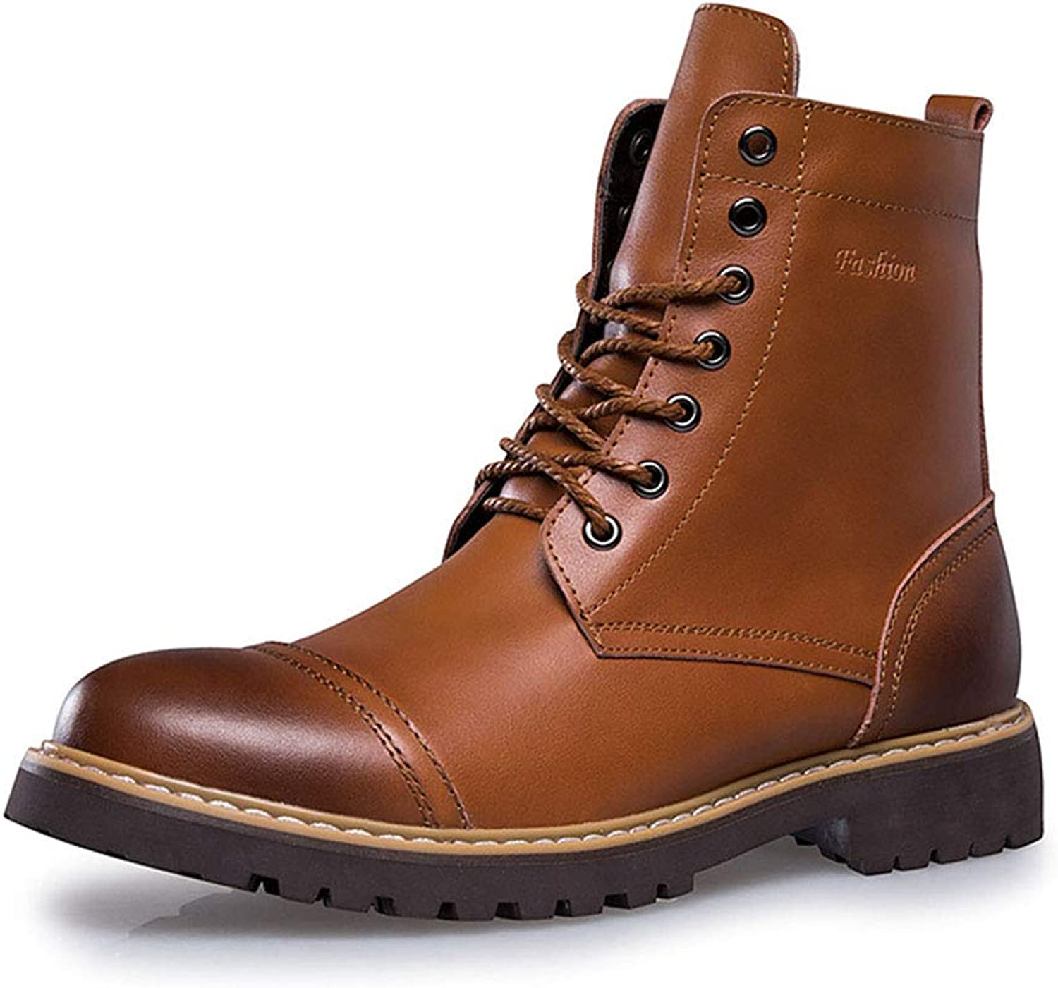 Unisex Adults' Martin Ankle Boots Classic Lace Up Genuine Leather Walking shoes Large Men's shoes