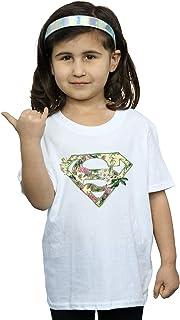 DC Comics Girls Supergirl Floral Shield T-Shirt