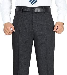 Men Classic Stretch Dress Pants Slim Fit Skinny Suit Pants Trousers
