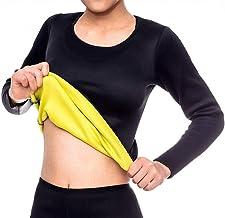 NOVECASA Vest Sauna Dames Shirt Korte Broek Neopreen voor Transpiratie