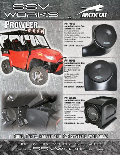 """SSV Works Arctic Cat Prowler XTZ 1000 Center Console Subwoofer Enclosure with Cupholders designed for 10"""" Speaker"""