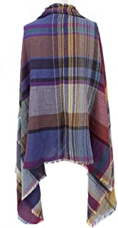 Fashionable Cold Weather Poncho Scarf with Pockets for Women