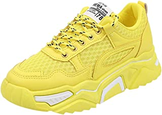 Kauneus Women's Mesh Solid Sport Shoes Breathable Lightweight Outdoor Sneakers Athletic Gym Shoes Running Shoes