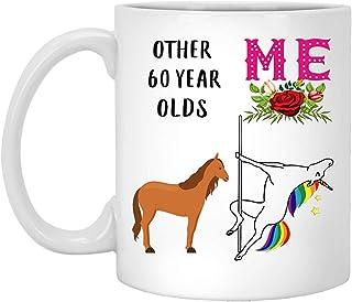60.o Regalos de cumpleaños para mujeres nacidas en 1957 Cumple 60 años Regalo para ella Divertida Pole Dancing Dream Horse Dance Taza de café Taza blanca 11 oz