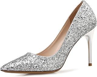 [ローローLuoLuo] ハイヒール レディース パンプス ポインテッド 大きいサイズ グラデーション ピンヒール靴 セクシー 美脚 5センチ 7センチ 9センチ 22cm-25.5cm 結婚式 パーティー お呼ばれ