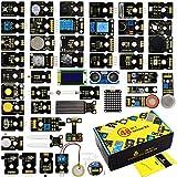 KEYESTUDIO 48 Sensors Modules Starter Kit for Arduino with LCD, 5v Relay, IR Receiver, LED Modules, Servo Motor, PIR, Pressure Sensor, Gas Sensor, etc.Programming for Beginners Adults Learning