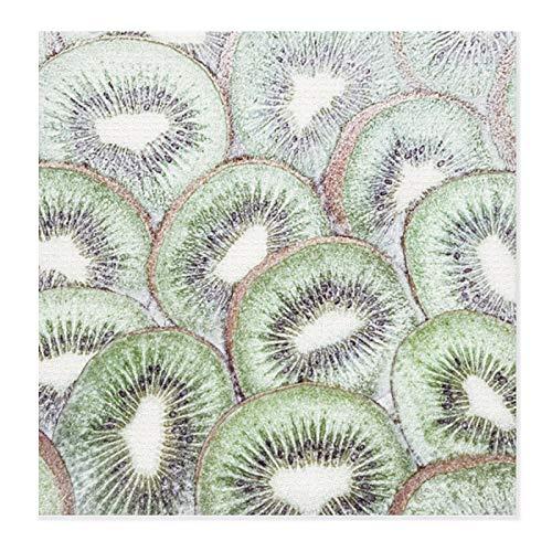 Alfombrillas de secado de platos para cocina, boceto simple a mano Kiwi Artwork Tapete de microfibra ultra absorbente, escurridor de platos para encimera, resistente al calor, 71 x 71 cm