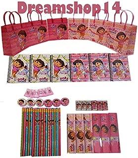 Dora the Explorer Goody Bag Party Favor Sets (6 Sets - 54 pcs)