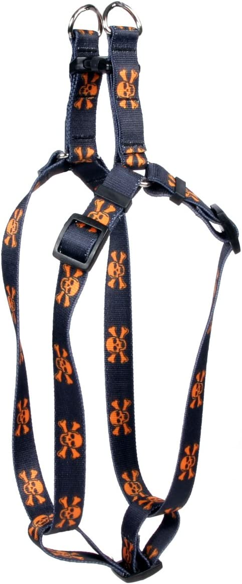 Yellow Translated Dog Design Skulls Harness Selling rankings Step-in