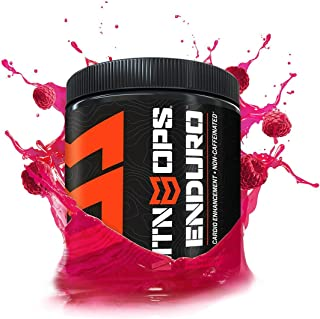MTN OPS Enduro Cardio Enhancement Non-Caffeinated Energy Drink Mix 30-Serving Bottle, Raspberry
