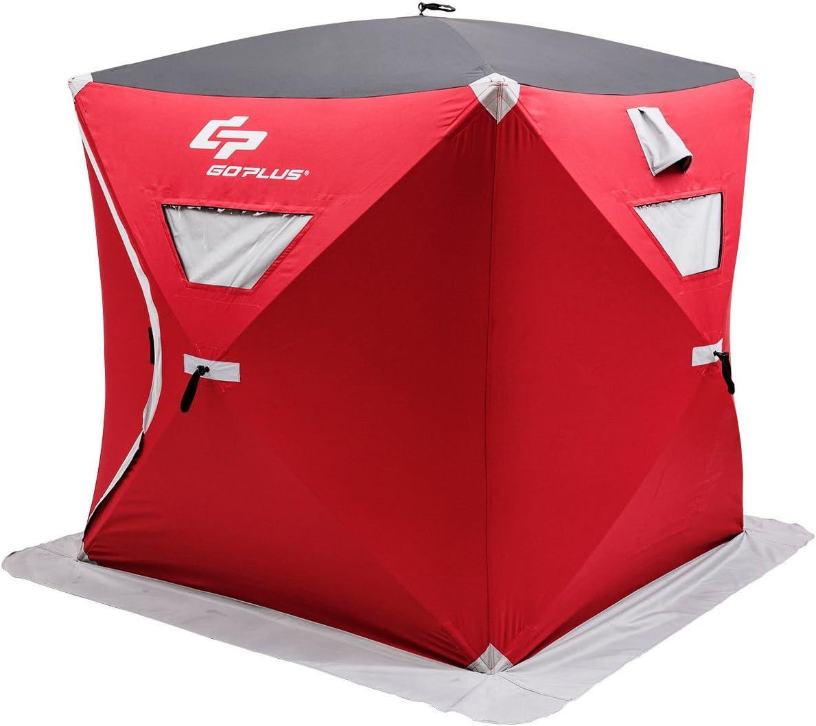 Goplus ポータブルアイスシェルター ポップアップ式アイスフィッシングテント