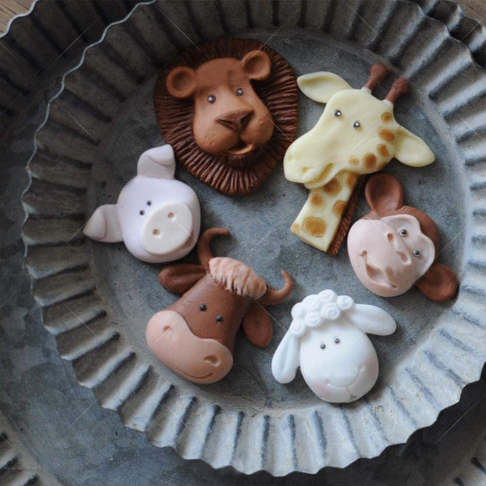 Dibujos Animados ovejas Jabón Molde Artesanales Arte Bakeware herramienta Silicona Jabón hecho a mano hágalo usted mismo Moldes