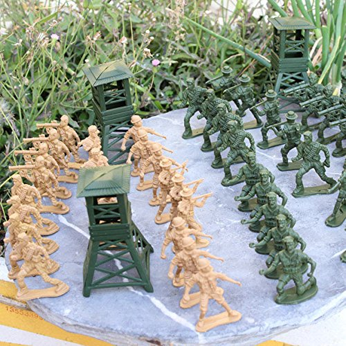 Gazechimp 122pcs Jouet Enfant Combat De L'armée Coloré Soldat Militaire Mis Garçon Cadeau