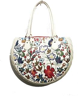 Ty's Bag , Damen Schultertasche Rot Rosso fantasia L40 cm x H29 cm (con manici 50) x P 9 cm